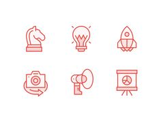 As the 829 rebrand continues to take shape, here is a peek at the icons that form our 6 main service areas. I hope you like them! They represent: RESEARCH & STRATEGY | UX & CREATIVE | SYSTE...