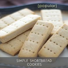 {Gluten-Free, Vegan, Refined Sugar-Free} This simple gluten-free vegan shortbread cookies recipe came about due to a reader request for a good shortbread r