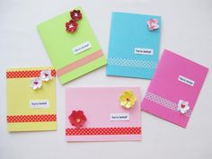 Planning a party? Why buy invitations when you can make these beautiful cards in 5 easy steps? Bonus: They make great thank you cards or birthday cards, too.