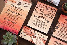 Oh So Beautiful Paper: Emma + Finn's Floral New York City Wedding Invitations