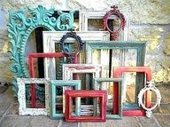 Heres a thought - get antique frames (or cheap wood ones from Hobby Lobby), paint them in your wedding colors (or just cutesy fall colors) and use them in your centerpiece for table numbers.