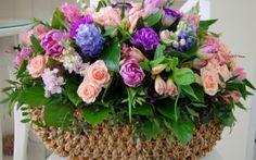 dekorasyon, gül, sümbül, güzellik, şarkı, çiçekler, güzel buket Masaüstü Duvar Kağıtları