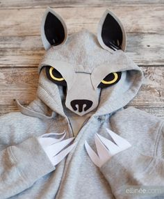 Create this Adult DIY Halloween Wolf Hoodie Costume -