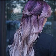 Gorgeous Purple to Silver Lavender Color Melt and Lush Braid Srtyle
