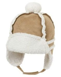 NWT 12-18 Months Gymboree REINDEER FROLIC Sherpa Lined Faux Suede Earflap Hat