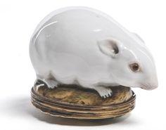 Mouse-shaped box,Manufacture de Mennecy,18th century