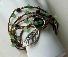 Bird Nest Crochet Wrap Necklace/Bracelet   di RoEnchantedDesigns, $21.00