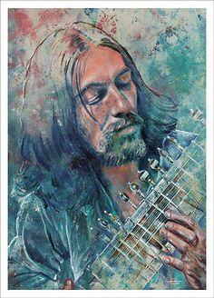 George Harrison Beatle, art print of original painting