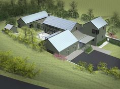 Sustainably designed modern farmhouse near the California coast