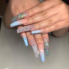 What manicure for what kind of nails? - My Nails Best Acrylic Nails, Summer Acrylic Nails, Acrylic Nail Designs, Orange Nail Designs, Aycrlic Nails, Bling Nails, Swag Nails, Grunge Nails, Coffin Nails
