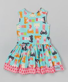 Love this Turquoise Doll Dress - Infant, Toddler & Girls on #zulily! #zulilyfinds