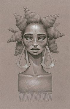 goddess twists on natural hair | american black women black art Goddess native afro natural hair twist ...
