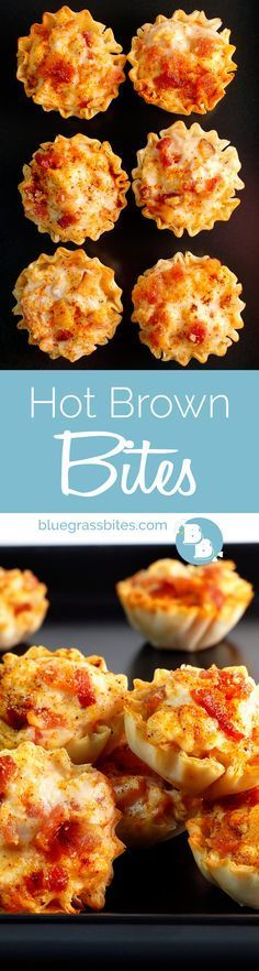 Brown Bites A bite-sized take on the classic and decadent Hot Brown! A necessary addition to your party appetizer line-up!A bite-sized take on the classic and decadent Hot Brown! A necessary addition to your party appetizer line-up! Finger Food Appetizers, Appetizers For Party, Finger Foods, Appetizer Recipes, Appetizer Ideas, Snack Recipes, Kentucky Derby Food, Kentucky Menu, Kentucky Derby Party Ideas