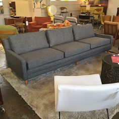 Mid Century Modern Selig style sofa. Completely refurbished. Available at Mid Mod Collective. Email midmodcollective@gmail.com for more info. SOLD!