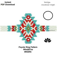 DETAILS: YOU PURCHASE A DOWNLOADABLE PDF-PATTERN TO CREATE THIS BEAUTIFUL TREASURE ON YOUR OWN. Wind&Fire #052RS For having an easier start you will get two start-pdf files (an image, a different bead legend, bead & word-chart) you can use instead of the usual pdf files. And a little