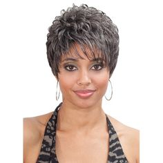 Bobbi Boss Class Wig PURE SWEET The Most Natural Hair Color Shown: Short style by Bobbi Boss. Made in quality synthetic hair. Has a secure inner comb fitting and adjustable band that is comfortable to weare. Curling Iron Safe Up to Create Chic Short Hair, Short Grey Hair, Short Hair Cuts, Pixie Cuts, Natural Hair Cuts, Natural Hair Styles, Bobbi Boss Wigs, Cool Braid Hairstyles, Hairstyle Ideas
