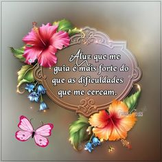 Flores e frases Msg For Friends, Spiritual Messages, New Hobbies, Handmade Crafts, Best Gifts, Meme, Fabric, Beautiful, Design
