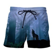 Wolverine Identical Howling Portrait Forest Autumn Shorts   WolverineIdenticalHowlingPortrait  ForestAutumnShorts Urban Outfits ca9ef2802ffb