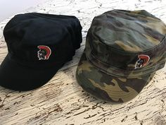 Embroidered Trojan Head Military Hats