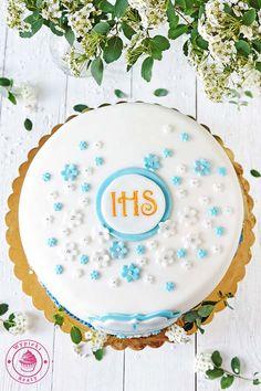 cytrynowy tort komunijny  - lemon cake for the first communion