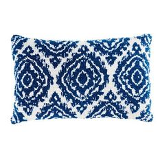 Blue and White Cotton Cushion on Maisons du Monde. Take your pick from our furniture and accessories and be inspired! Azul Indigo, Kitchen Ornaments, Attic Bedrooms, Elle Decor, Cushion Covers, White Cotton, Decorative Pillows, Blue And White, Cushions