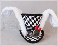 White Rabbit Mini Top Hat Mini Top Hat by LittleMissHattitude