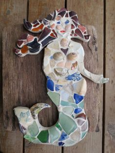 Mona Lisa of Maryland  Sea Glass Mermaid by maysprout on Etsy, $145.00