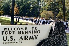 Fort Benning Georgia! My daughter and son-n-law and their kids live here. We got to visit this last Christmas!