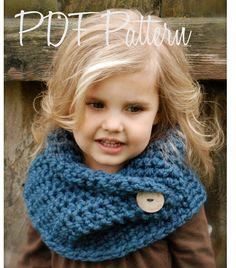 Crochet PATTERN-The Tuscyn Cowl (Child, Adult sizes) also can be Made to Order. $5.50, via Etsy.