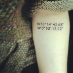 I will have a tat, with the coordinates of the last place my dad and I hugged each other, placed on my wrist. I love you, daddy!!! ❤