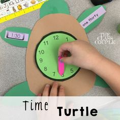 The time turtle is a super cute math craftivity. It also includes a time matching game. Such a great way to practice telling time!