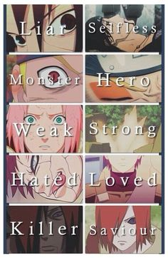Naruto character progressions. The only one I don't get is he top one, because it shows Sasuke and then Itachi.