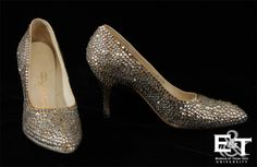 Rhinestone Covered Stiletto Shoes, 1968