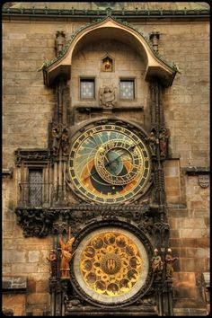 Prague, astronomical clock tower by kaitlin