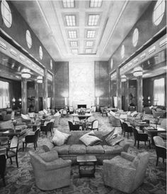 Queen Mary 1st class lounge 1939