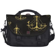 Chandeliers Gold and Black Commuter Bag