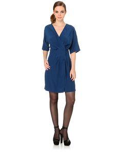 robe portefeuille en soie bleue de Le Mont Saint Michel #Bazarchic