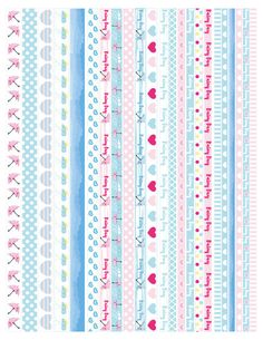 You can use them in planners like Erin Condren Lifeplanner, Mambi Happy planner, personal planners, Kikki K etc. Washi Tape Planner, Washi Tape Diy, Washi Tapes, Journal Stickers, Printable Planner Stickers, Printables, Scrapbook Borders, Scrapbook Paper, Planner Pages