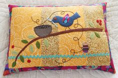Looking for your next project? You're going to love Sewing Bird Pillow by designer fiberbug1.
