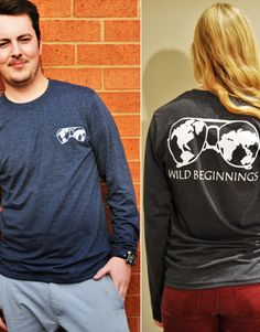 Wild Unisex Long Sleeve-T Made and decorated in Canada in unionized plants 50% GOTS-certified organic cotton fine gauge jersey – extra-soft 50% recycled polyester Unisex 5%goes to Save The Rhinos <3