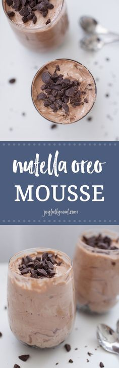 When you need a timeless, any season kind of dessert that you can serve at parties or just because, this Nutella Oreo Mousse will hit the spot every time! Made with cream cheese, Nutella and whipped cream with Oreo crumbles on the bottom, this dish is dec