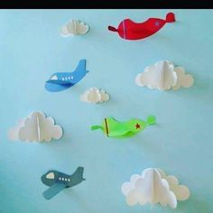 #paper clouds and planes#little turtul