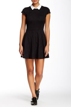 Cap Sleeve Collared Dress by Want & Need on @nordstrom_rack