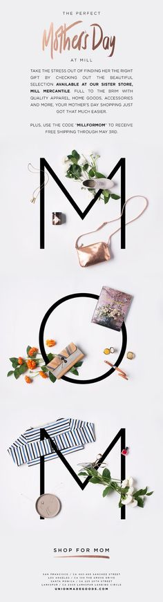 Typography and Product Integration / Design Elements / Rose Gold Foil / Script / Mother's Day Gifts: