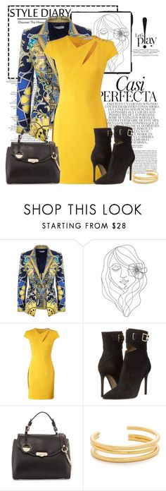 """""""LA vie"""" by lena-alpa ❤ liked on Polyvore featuring Whiteley, Versace, PBteen, Madewell, yellow, booties and versace"""