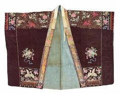 A black silk ground Daoist priest's robe with embroidered decoration. Late Qing/Republic Period. Photo Bonhams
