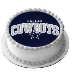 Dallas Cowboys Football Sports Birthday Edible Cake Cupcake Image Topper