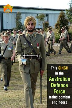 #BlessedtobeSikh  This SINGH in the Australian Defence Force trains combat engineers  In a remarkable display of diversity in the Australian Defence Force, Lt Amrinder Ghuman of the Royal Australian Engineers, is responsible for training new recruits at the School of Military Engineering (SME).  Read More http://barusahib.org/general/this-singh-in-the-australian-defence-force-trains-combat-engineers/  Share & Spread to be a part of this victory! — with Kay Dhillon.