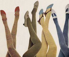 """bondidwhat: """" Textured tights are groovy! Funky Tights, Cool Tights, 1960s Fashion, Vintage Fashion, Modern Fashion, Heather Chandler, Mode Alternative, Look Cool, Style Inspiration"""