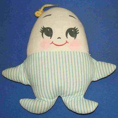 blue vintage baby humpty dumpty #humptydumpty
